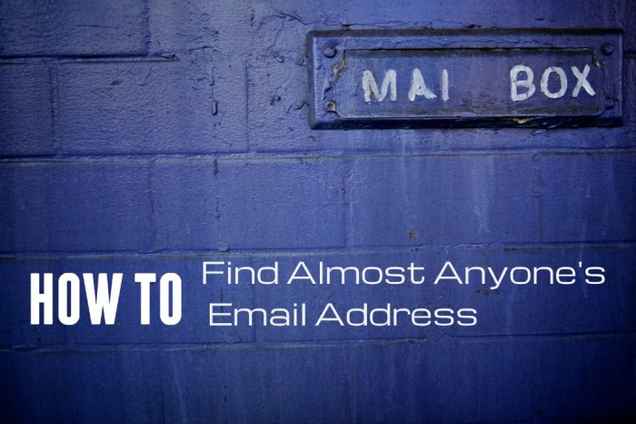 how to find email address:
